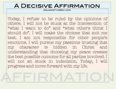 decisive affirmation picture