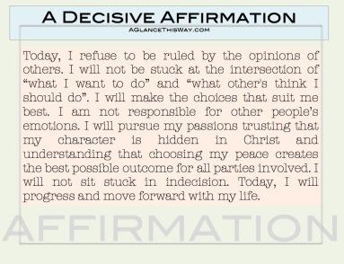 decisive affirmation picture